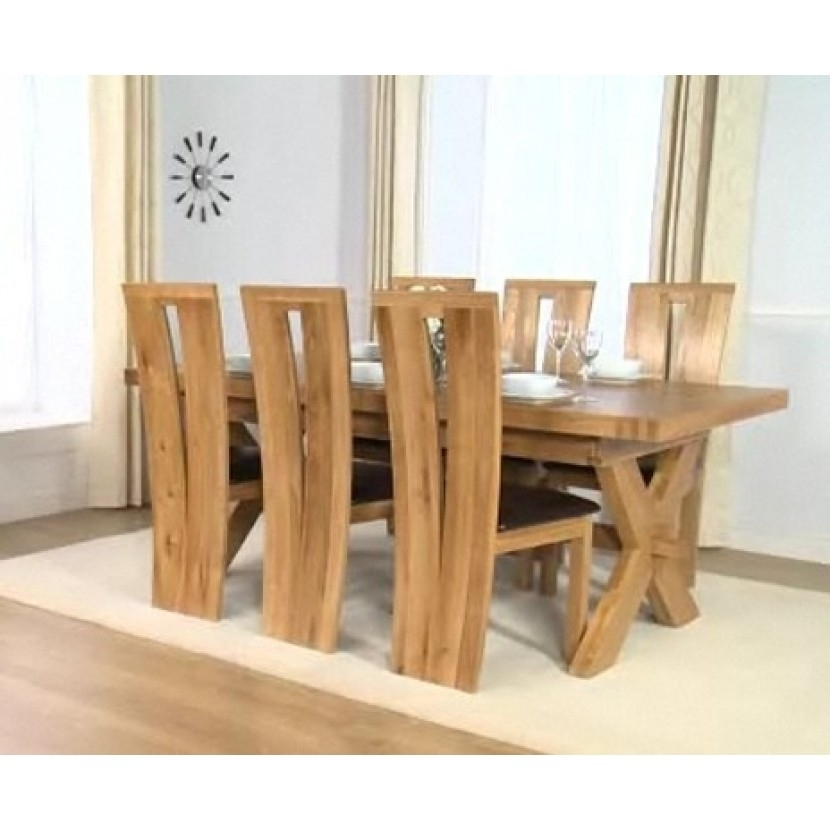 Mark Harris Avignon 200Cm Dining Table & 6 Arizona Chairs | Up To 40 Intended For Light Oak Dining Tables And 6 Chairs (View 19 of 25)