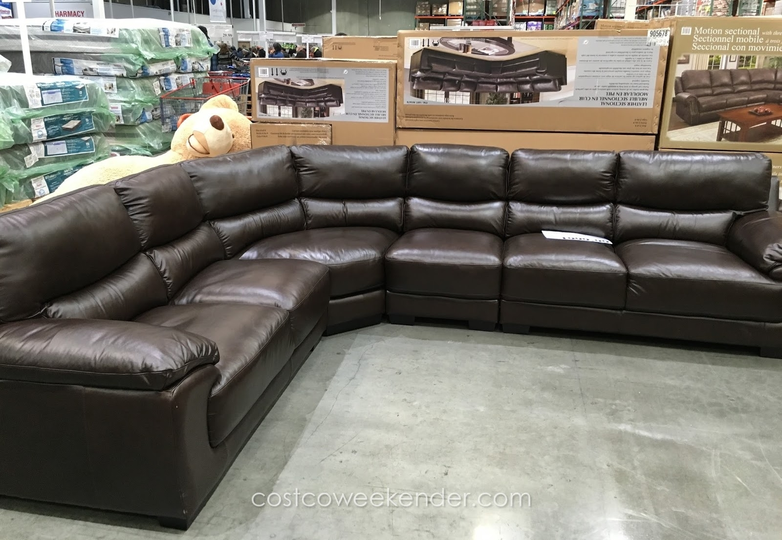 Marks & Cohen Colton Leather Sectional | Costco Weekender For Cohen Down 2 Piece Sectionals (Image 19 of 25)