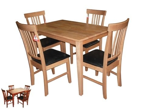 Massa Small Dining Table With 4 Chairs In Mahogany Or Oak (View 24 of 25)