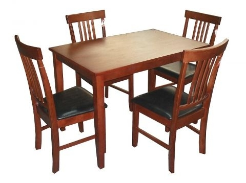 Massa Solid Rubberwood Dining Table In Mahogany With 4 Or 6 Chairs (View 15 of 25)