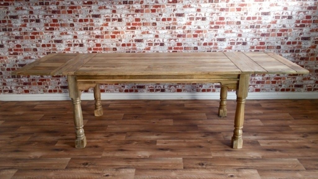 Massive Rustic Farmhouse Kitchen Dining Table 7Ft Extending To 10Ft For Extending Dining Tables With 14 Seats (Image 19 of 25)