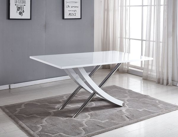 Mayfair White High Gloss Dining Table – Free Delivery | Furniturebox Intended For Mayfair Dining Tables (Image 17 of 25)
