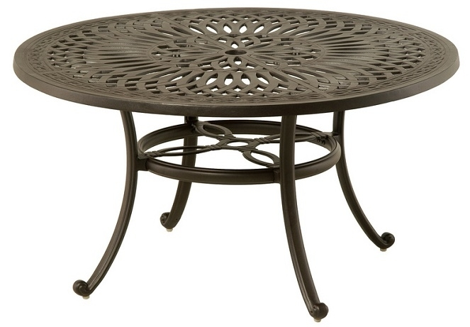 """Mayfairhanamint Luxury Cast Aluminum 54"""" Round Dining Table W Regarding Mayfair Dining Tables (Image 19 of 25)"""