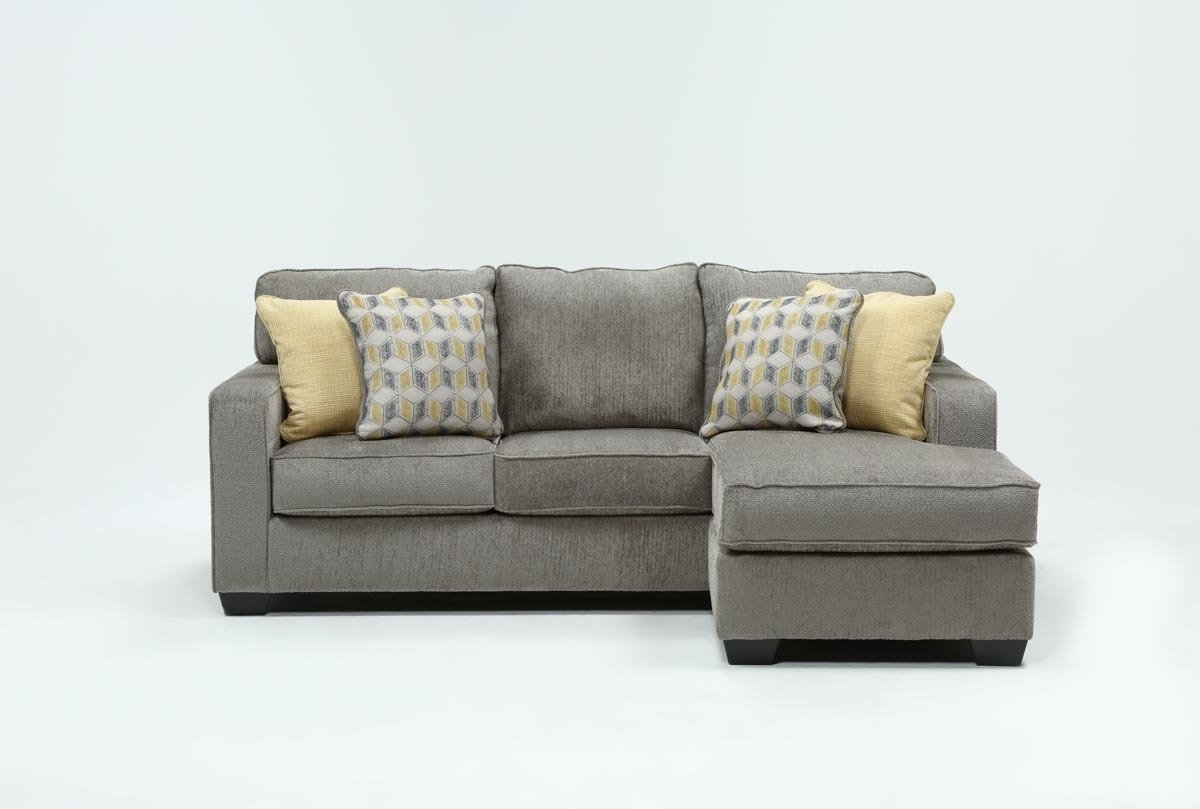 Mcculla Sofa With Reversible Chaise | Living Spaces Intended For London Optical Reversible Sofa Chaise Sectionals (Image 13 of 25)