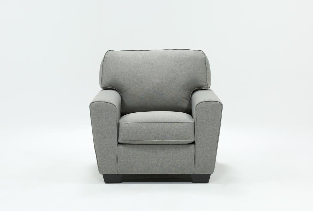 Mcdade Ash Chair | Living Spaces Intended For Mcdade Graphite 2 Piece Sectionals With Laf Chaise (Image 11 of 25)