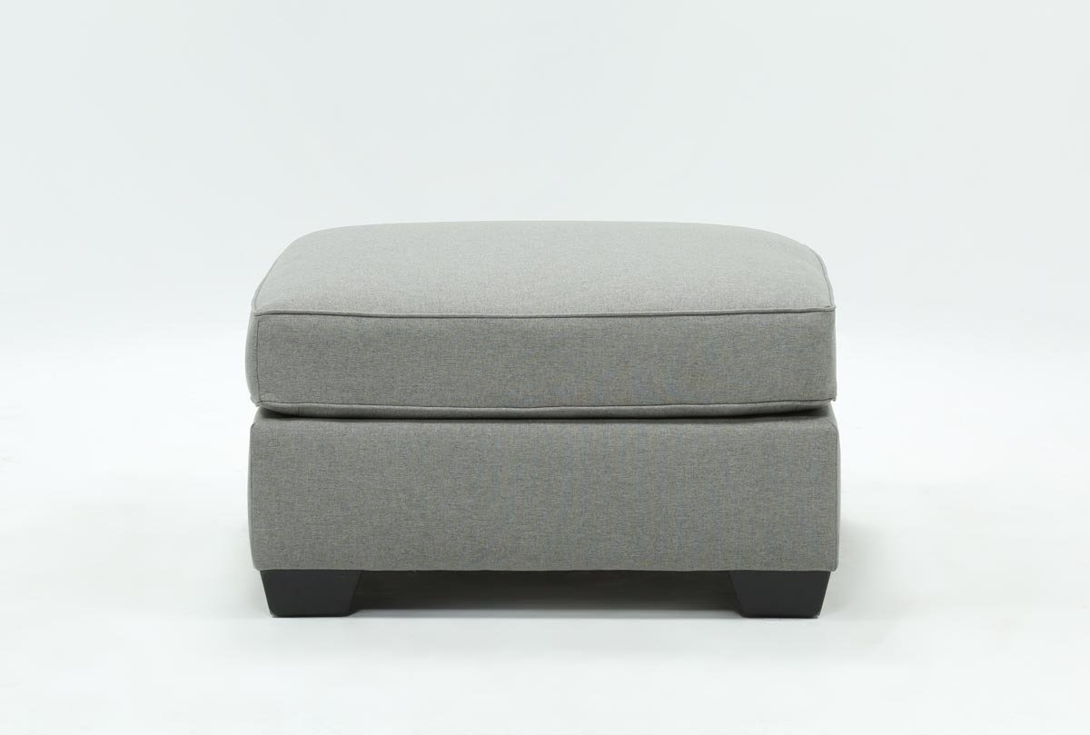 Mcdade Ash Oversized Accent Ottoman | Living Spaces Throughout Mcdade Graphite 2 Piece Sectionals With Laf Chaise (Image 12 of 25)