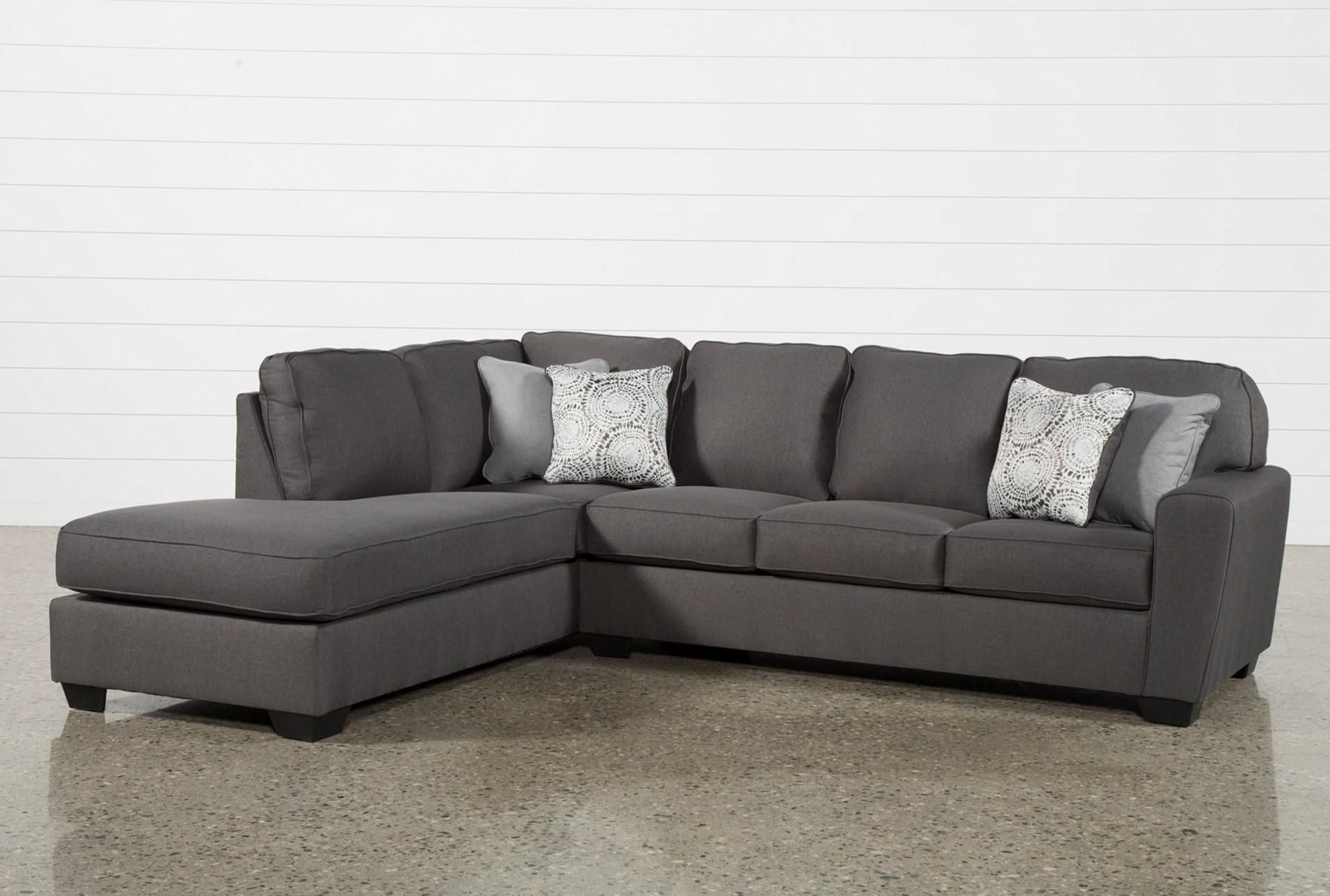 Mcdade Graphite 2 Piece Sectional W/laf Chaise | Graphite, Living Pertaining To Kerri 2 Piece Sectionals With Raf Chaise (Image 24 of 25)