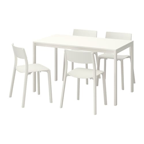Melltorp / Janinge Table And 4 Chairs – Ikea Inside White Melamine Dining Tables (View 11 of 25)