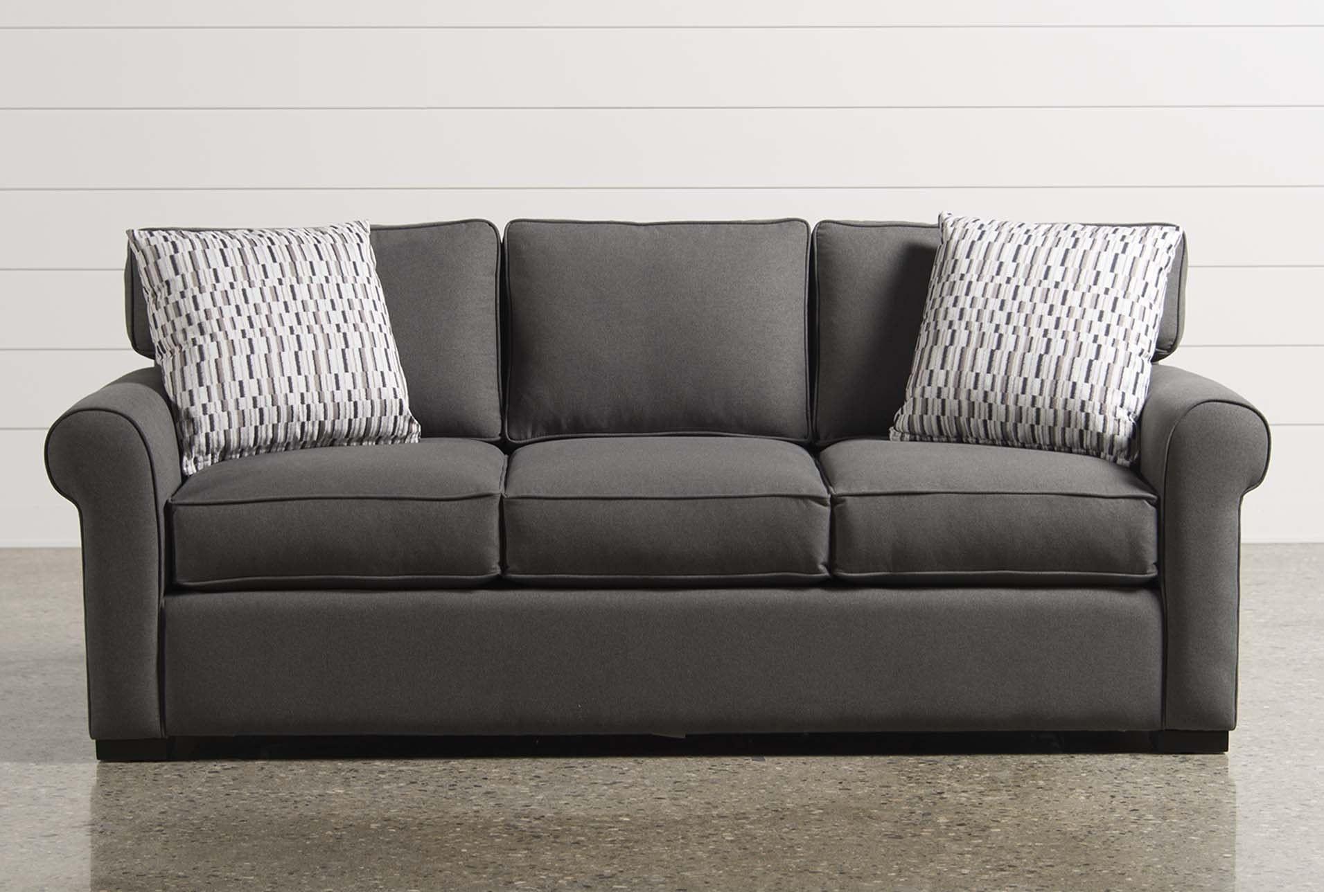 Memory Foam Queen Sleeper, Mia, Grey, Sofas | Living Spaces, Memory Regarding Taren Reversible Sofa/chaise Sleeper Sectionals With Storage Ottoman (Image 13 of 25)