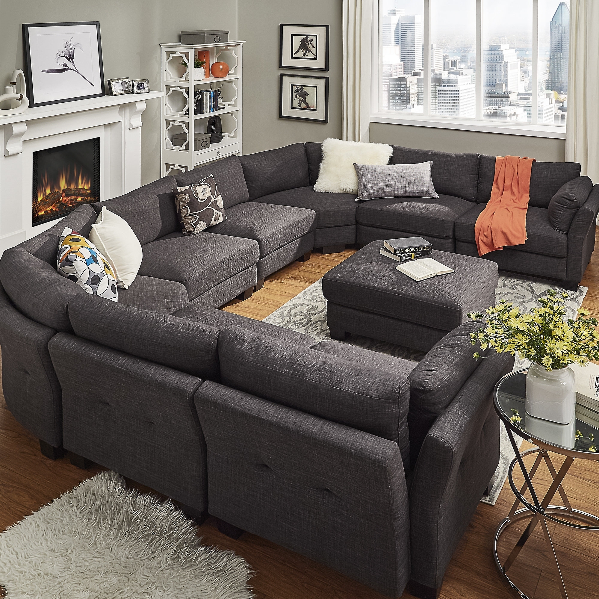 Mercury Row Alkmene Sectional Collection & Reviews | Wayfair Pertaining To Mesa Foam 2 Piece Sectionals (Image 13 of 25)