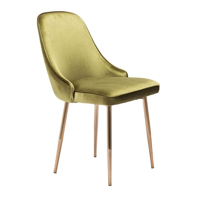 Merritt Modern Dining Chair Green Velvet Within Velvet Dining Chairs (Image 16 of 25)