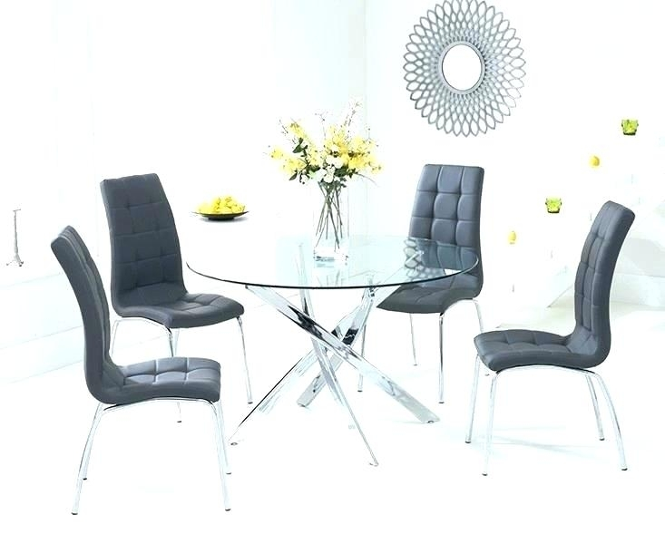 Metal And Glass Furniture Glass Dining Tables Sets White Glass For Glass And Oak Dining Tables And Chairs (Image 12 of 25)