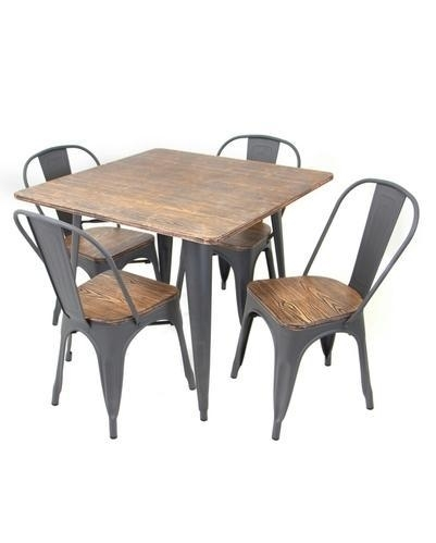 Metal Base And Wooden Top Industrial Dining Table At Rs 4999 /piece In Helms Rectangle Dining Tables (Image 17 of 25)
