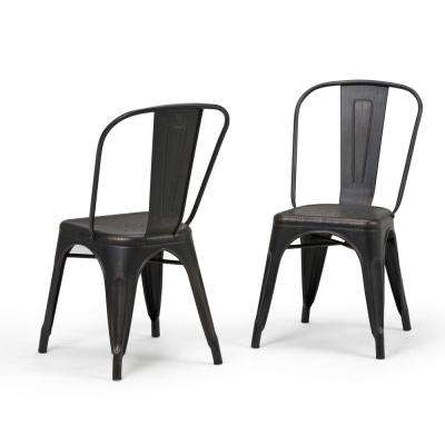 Metal – Dining Chairs – Kitchen & Dining Room Furniture – The Home Depot Pertaining To Black Dining Chairs (Image 14 of 25)