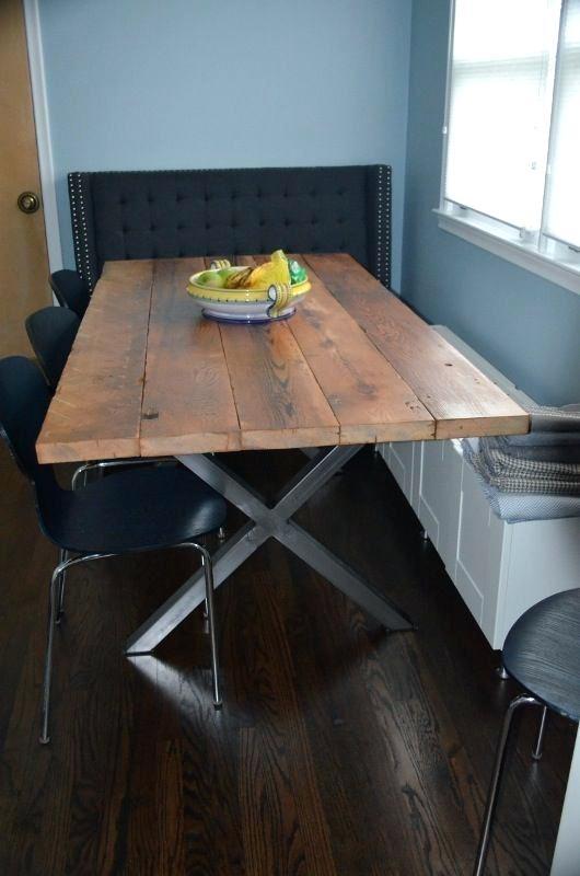 Metal Dining Table Legs Furniture Legs Wood And Metal Dining Table With Regard To Dining Tables With Metal Legs Wood Top (View 18 of 25)