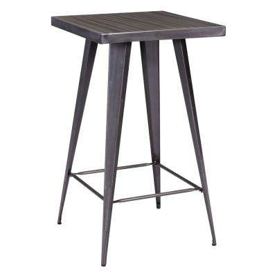 Metal – Kitchen & Dining Tables – Kitchen & Dining Room Furniture In Ina Pewter 60 Inch Counter Tables With Frosted Glass (Image 16 of 25)