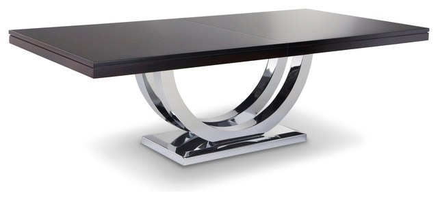 Metro Chrome Base Dining Table – Modern – Dining Tables – Other – For Chrome Dining Tables (Image 17 of 25)