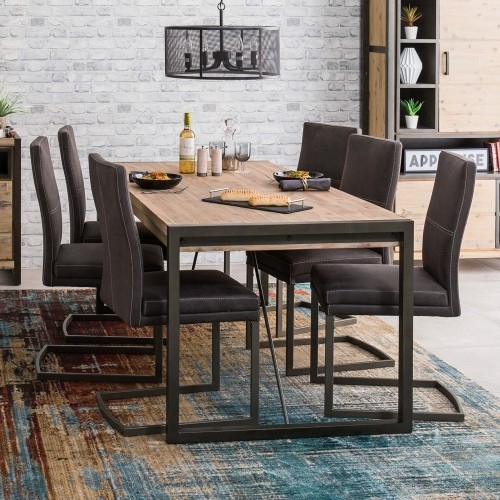 Metro Dining Table & 6 Chairs With Regard To Metro Dining Tables (Image 15 of 25)