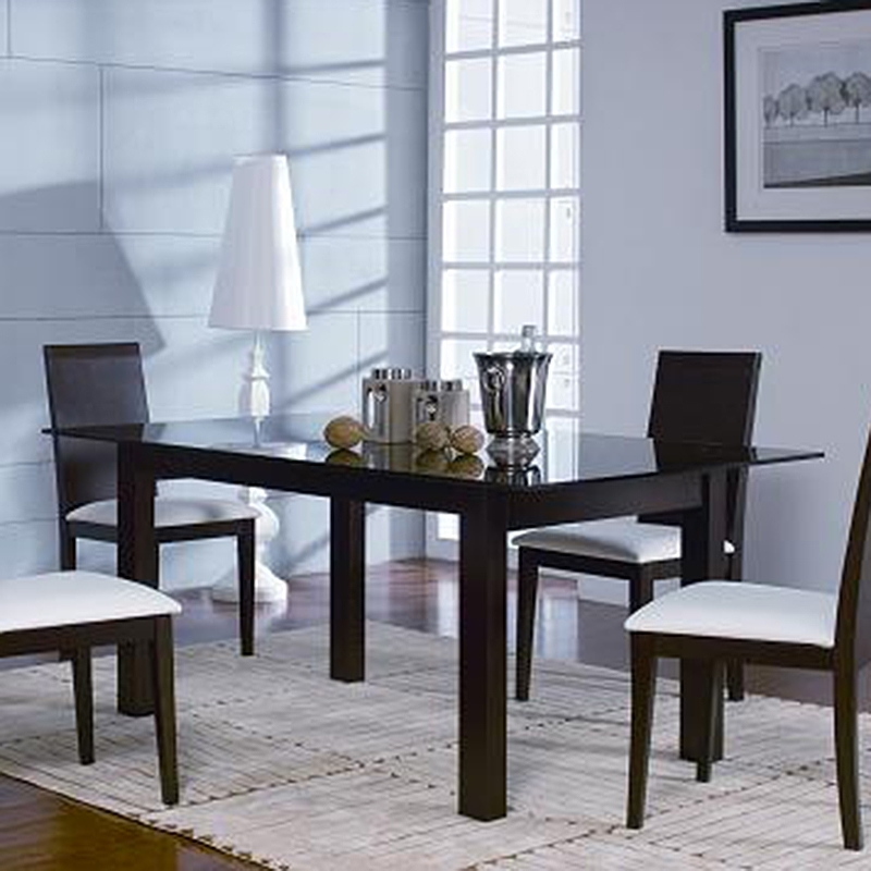 Metro Dining Table (Oak Chocolate) Regarding Metro Dining Tables (Image 13 of 25)