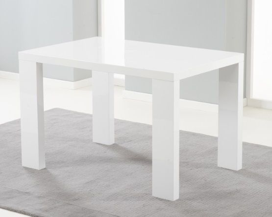 Metz 120Cm White High Gloss Dining Table Pertaining To White Gloss Dining Tables 120Cm (Image 18 of 25)
