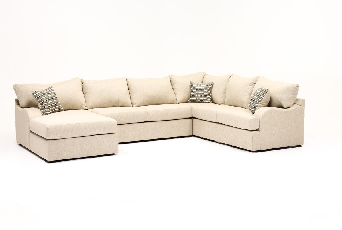 Meyer 3 Piece Sectional W/laf Chaise | Living Spaces Inside Mcculla Sofa Sectionals With Reversible Chaise (Image 19 of 25)
