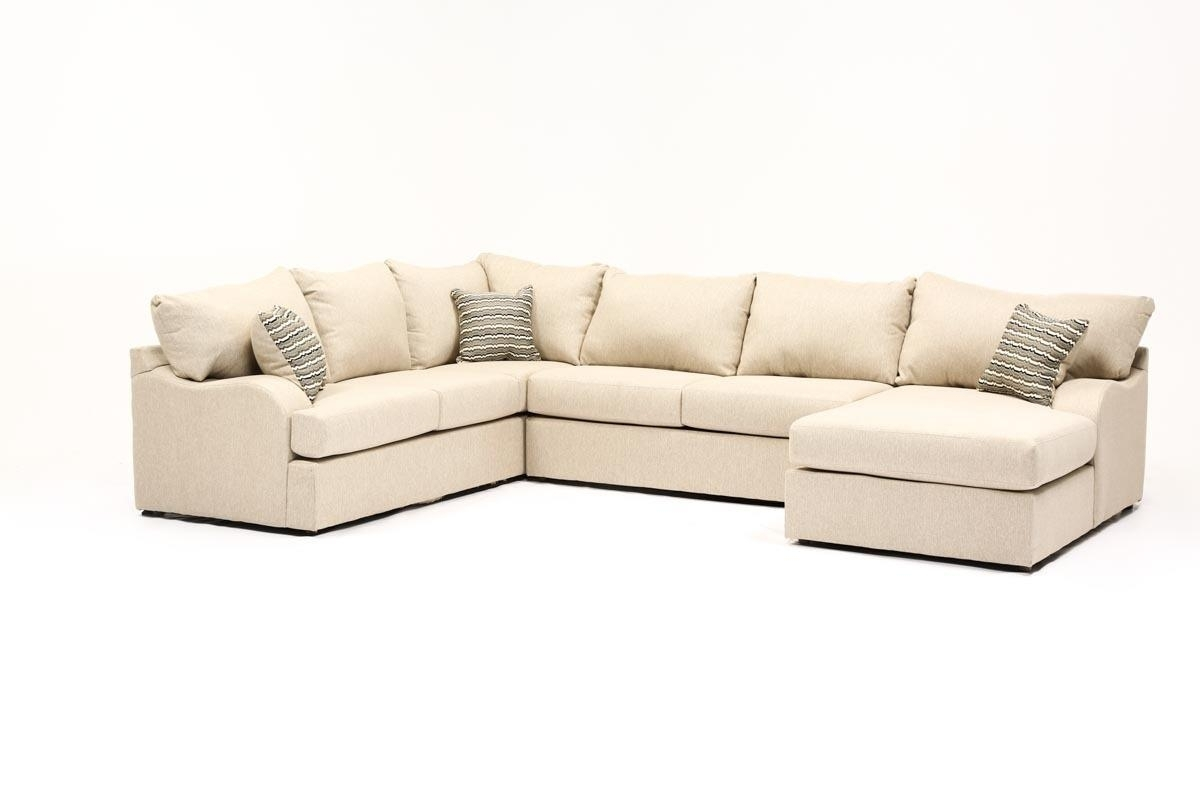 Meyer 3 Piece Sectional W/raf Chaise | Living Spaces In Mcculla Sofa Sectionals With Reversible Chaise (Image 20 of 25)