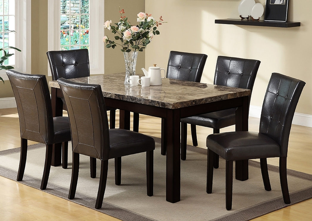 Meyers & Tabakin Inc Bruce Rectangular Dining Table W/4 Side Chairs With Craftsman 7 Piece Rectangle Extension Dining Sets With Side Chairs (View 7 of 25)