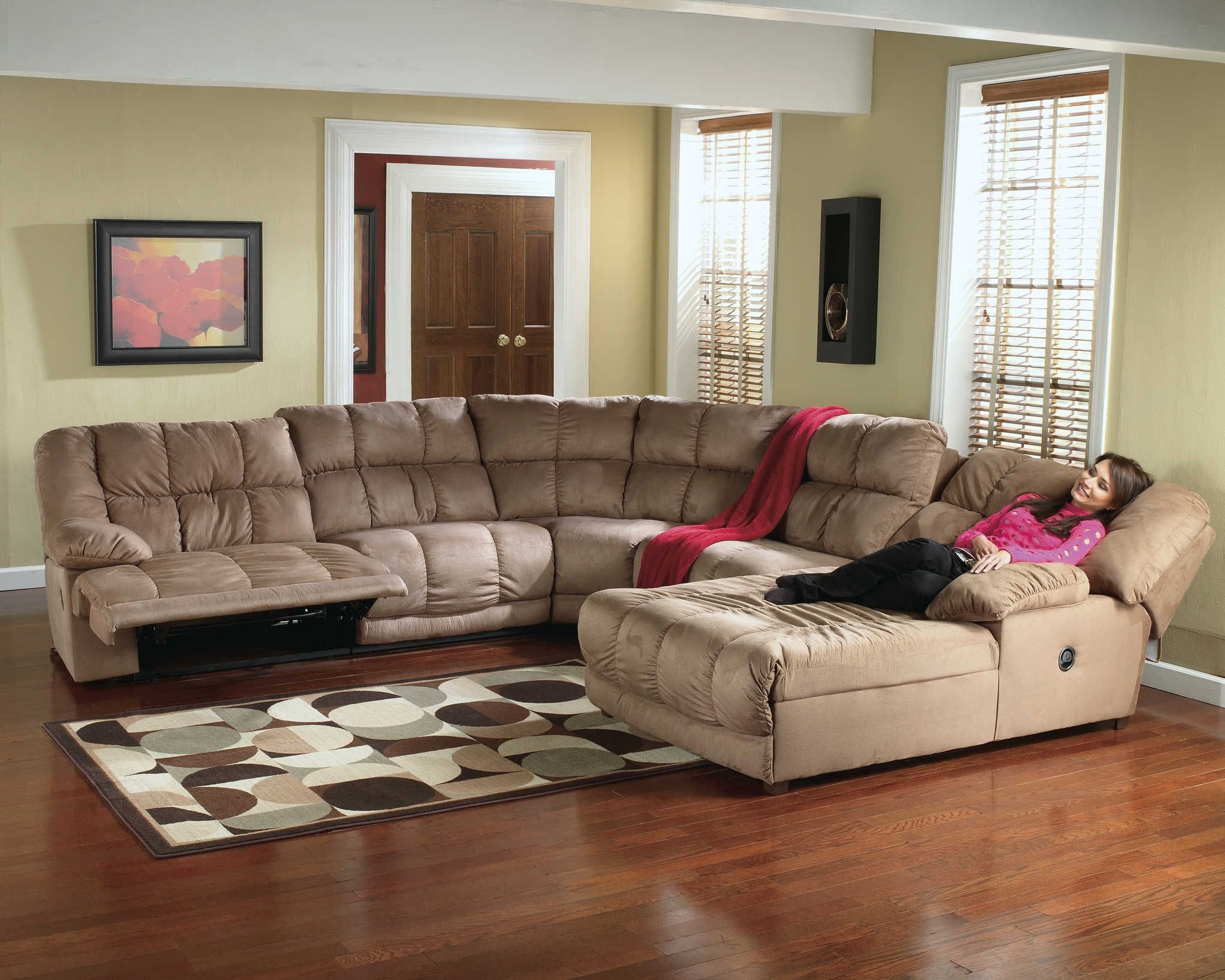 Microfiber Recliner Sectional | Sectional Sofa | Recliner Chaise 260 Within Jackson 6 Piece Power Reclining Sectionals With  Sleeper (Image 19 of 25)