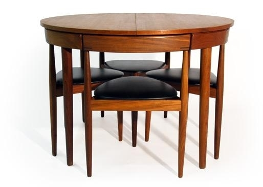 Mid Century Modern Hans Olsen Dining Table And Chairs For Sale In Throughout Chapleau Ii Extension Dining Tables (Image 23 of 25)