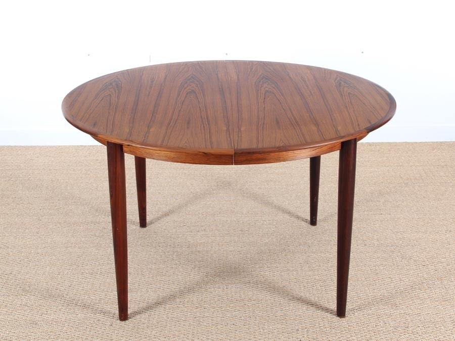 Mid Century Modern Scandinavian Dining Table In Rio Rosewood 4/8 With Regard To Rio Dining Tables (Image 11 of 25)