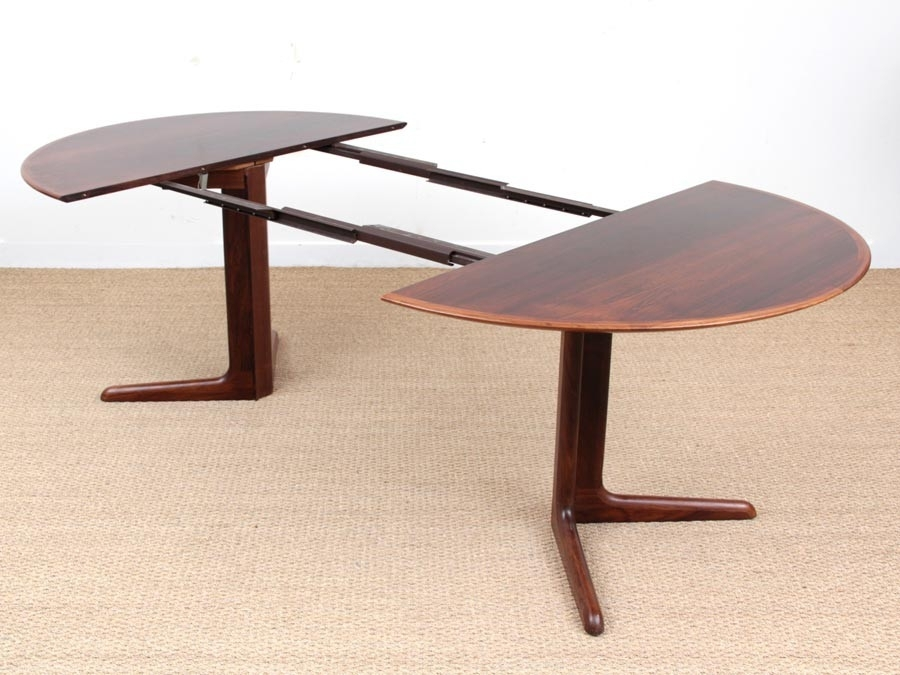 Mid Century Modern Scandinavian Round Dining Table In Rio Rosewood 6 For Rio Dining Tables (View 25 of 25)