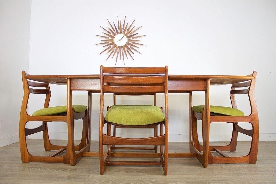 Mid Century Retro Teak Danish Style Portwood Dining Table 4 Dining Pertaining To Danish Style Dining Tables (View 17 of 25)