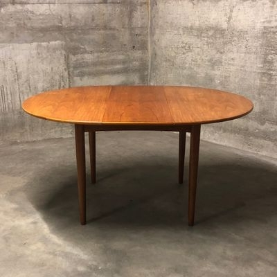 Mid Century Round Teak Dining Tableib Kofod Larsen For G Plan With Helms 5 Piece Round Dining Sets With Side Chairs (View 16 of 25)