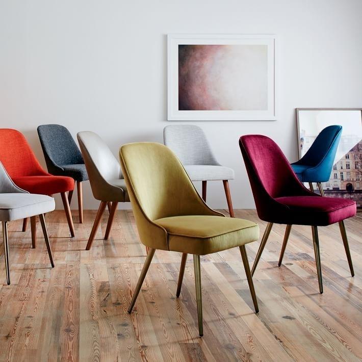 Mid Century Velvet Dining Chair | Bed | Pinterest | Dining Chairs Regarding Velvet Dining Chairs (View 23 of 25)