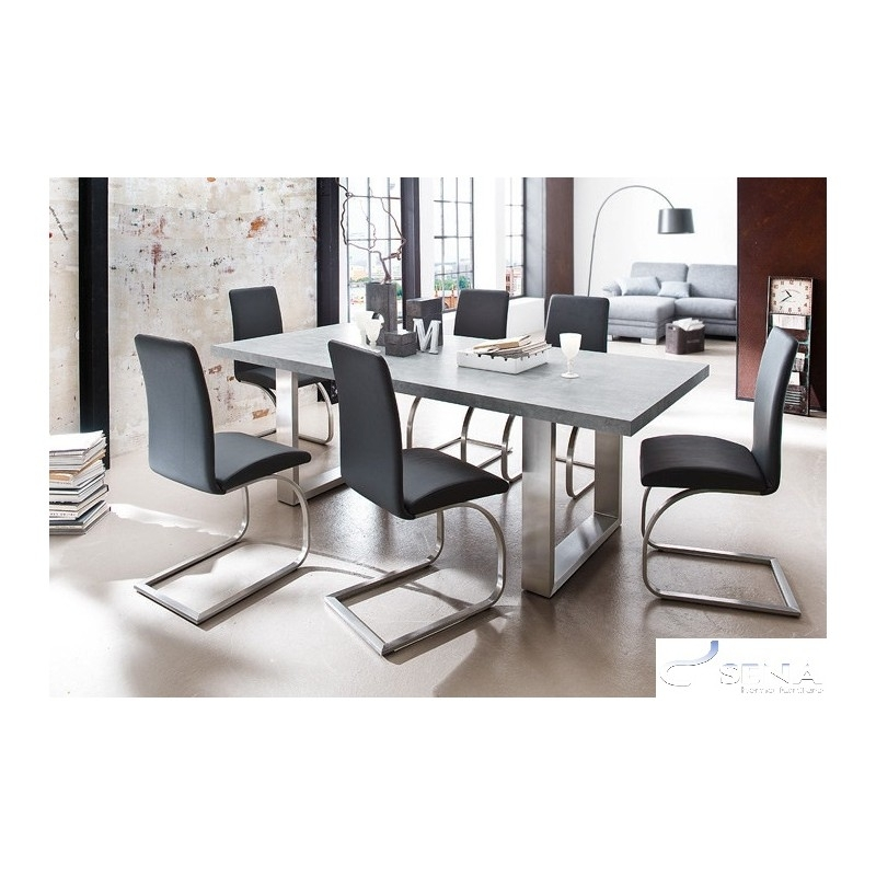 Mikado – Luxury Real Leather Dining Chair – Chairs (2043) – Sena Inside Real Leather Dining Chairs (Image 8 of 25)