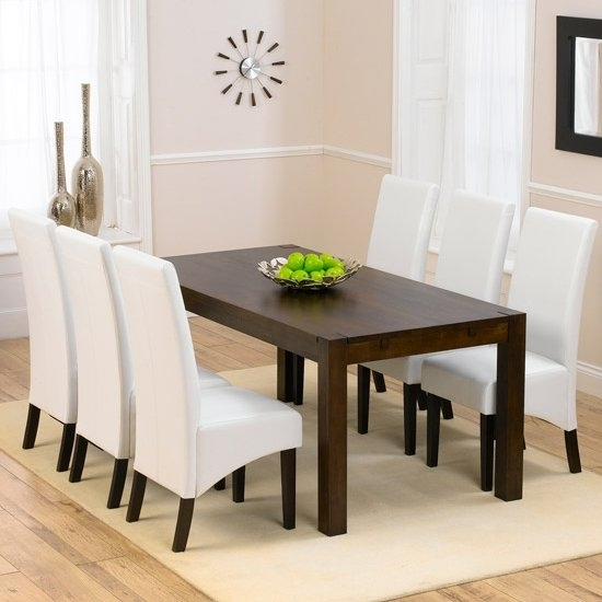 Milan Dark Oak Dining Table And 6 Verona Dining Chairs In Verona Dining Tables (View 6 of 25)