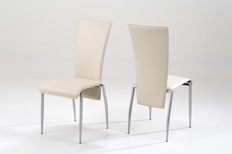 Milan Dining Chair Cream Leather – Quality Dining Chairs Pertaining To Cream Faux Leather Dining Chairs (Image 19 of 25)