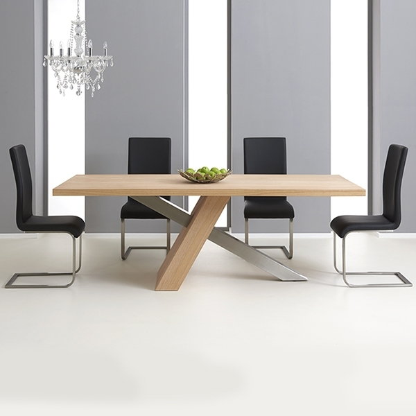 Milano Solid Oak 180Cm Dining Table With 6 Milan Chairs – Robson Intended For 180Cm Dining Tables (View 3 of 25)