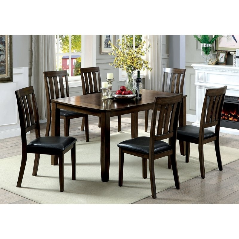 Millwood Pines Devon Wooden 7 Piece Counter Height Dining Table Set Intended For Candice Ii 7 Piece Extension Rectangle Dining Sets (Image 14 of 25)