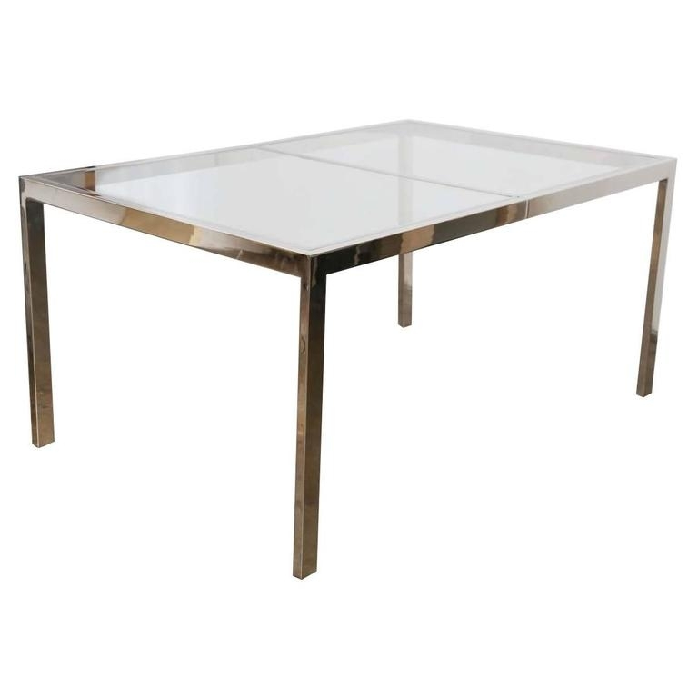 Milo Baughman Chrome And Glass Dining Table At 1Stdibs With Regard To Chrome Glass Dining Tables (Image 14 of 25)