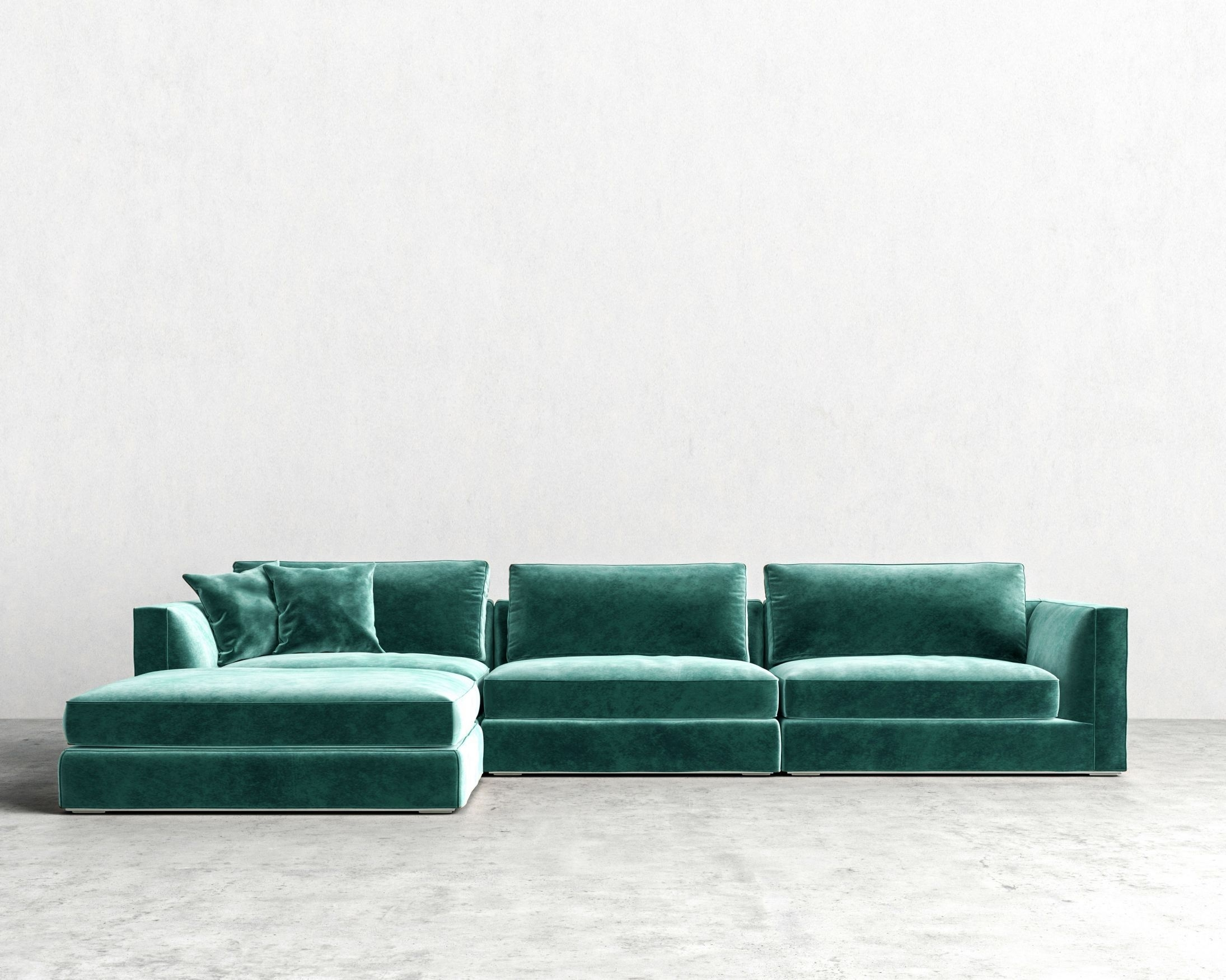 Milo Modular Sectional | Rove Concepts Sandro Mid Century Furniture Regarding Nico Grey Sectionals With Left Facing Storage Chaise (Image 12 of 25)