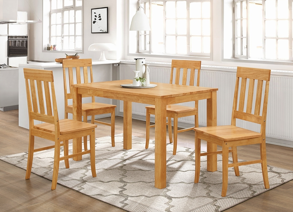 Milton 4′ Set 4 Chairs + Casey Table | Dining Tables In Milton Dining Tables (Image 6 of 25)