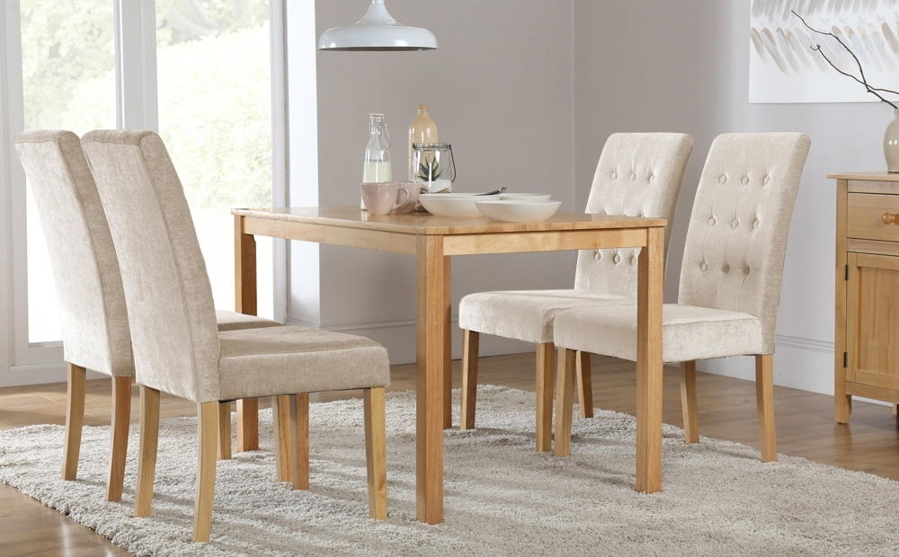 Milton Dining Table And 6 Chairs Set (Regent Oatmeal) Only £ (Image 12 of 25)