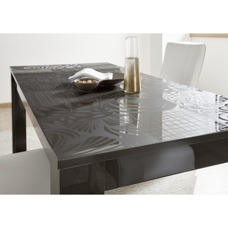 Miro Decorative Grey Gloss Dining Table – Dining Tables (3183 With Regard To Grey Gloss Dining Tables (View 17 of 25)
