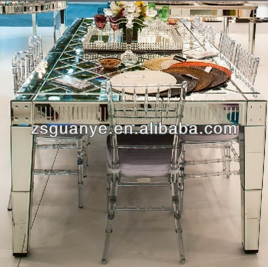Mirror Dining Table,modern Style,glass Furniture – Buy Glass With Regard To Mirror Glass Dining Tables (Image 10 of 25)