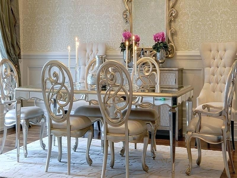 Mirrored Dining Room Table Mirror Glass Dining Table Glass Mirror With Antique Mirror Dining Tables (View 13 of 25)