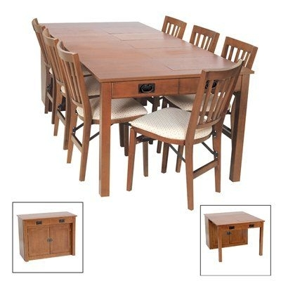 Mission Expanding Cabinet Dining Table This Versatile Piece Of In Lindy Espresso Rectangle Dining Tables (View 13 of 25)