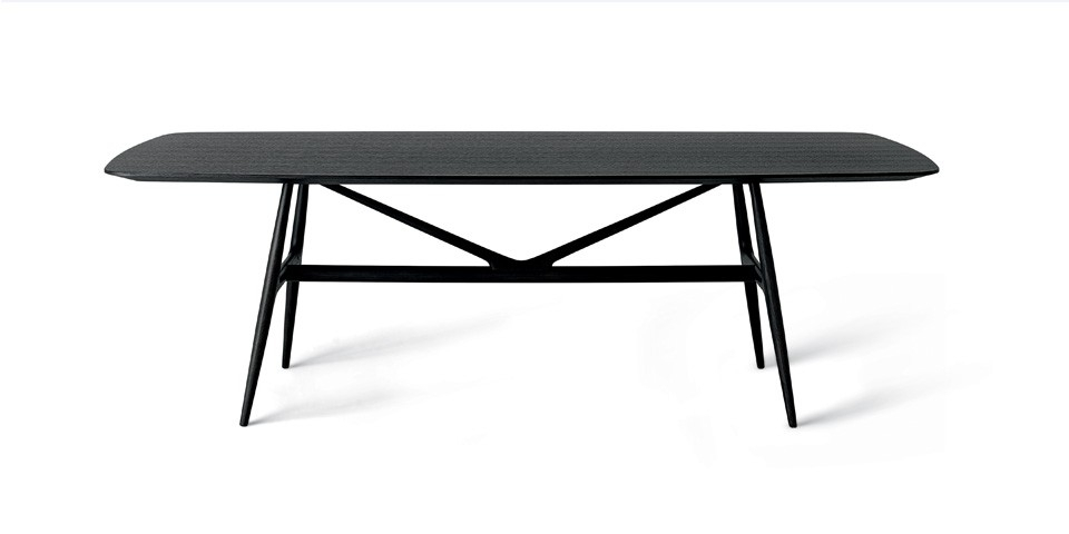 Misuraemme Gaudi Matt Black Ash Dining Table | The Longest Stay Within Black Dining Tables (Image 20 of 25)
