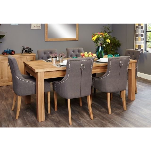 Mobel Solid Modern Oak Furniture Extending Dining Table Six Luxury Intended For Dining Tables And Six Chairs (Image 15 of 25)