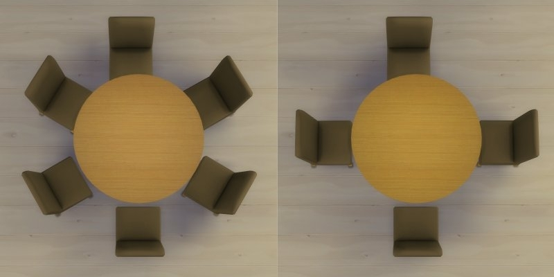 Mod The Sims – Modern 6 Seater And 8 Seater Round Dining Table And With 6 Seater Round Dining Tables (Image 13 of 25)